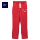 Gap男童 Logo舒適鬆緊腰休閒長褲 373259-摩登紅色