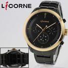 【萬年鐘錶】 LICORNE  entree  狙擊追緝令三環錶  金錶框   大錶徑  44mm  LI035MTBI