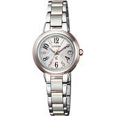 CITIZEN 星辰 XC 光動能電波萬年曆女錶-雙色版/25mm ES9434-53X