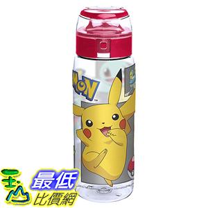 [106美國直購] 水杯 Zak Designs Pokemon Reusable Tritan Plastic Water Bottle with Flip Top Cap Featuring
