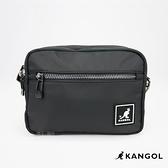 英國 KANGOL 袋鼠 滑布雙層側背包 多夾層 斜背包 貼身包 隨身小包
