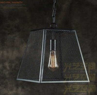 設計師美術精品館北歐複古鑽石鳥巢吊燈工業風現代簡約鄉村餐廳吧台鐵藝鳥籠吊燈