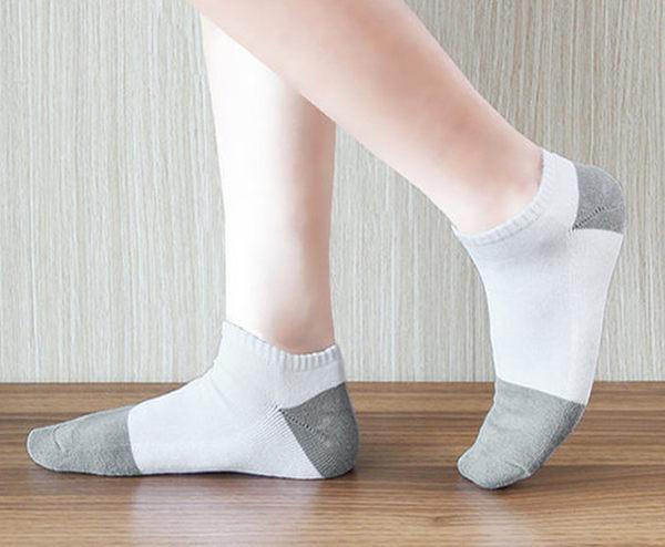 船形襪 運動短襪 學生襪 毛巾底 吸濕排汗 竹炭抗菌 透氣除臭襪 襪子 女用 - 白色【W007-01】Nacaco