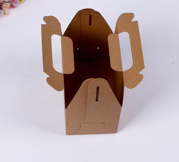 附底托 中號素面西點手提盒 禮盒 點心盒 杯子蛋糕盒 餅乾盒【C100】婚禮小物 外帶盒 包裝盒 紙盒