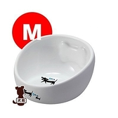 『寵喵樂旗艦店』  日本 Marukan【骨頭造型陶瓷碗】M號 [DP-654]