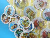 童玩尪仔標 圓紙牌 (厚王牌)直徑約 5.5cm 【一吊21包】(每包5張入){定10}