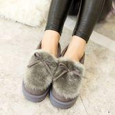秋冬季保暖豆豆鞋女加絨韓版平底鞋女鞋防滑孕婦鞋毛毛鞋棉鞋學生【限時八折】