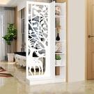 屏風鏤空雕花屏風隔斷客廳小戶型簡約現代裝飾折疊折屏臥室玄關門廳櫃  快速出貨