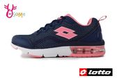 LOTTO樂得 義大利 女款 FLUX 避震氣墊跑鞋 網布運動鞋 慢跑鞋 M8608#藍色◆OSOME奧森童鞋