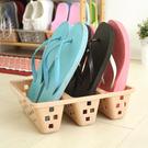 BO雜貨【SV8164】日本製 塑料簡易三卡位立式鞋 鞋子增倍收納架 鞋櫃 室內拖鞋   節省空間收納