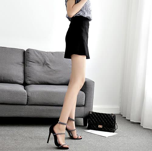 克妹Ke-Mei【ZT50931】歐洲站 辛辣名媛水鑽美踝派對露指高跟鞋