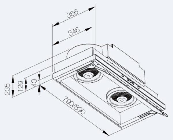 【fami】莊頭北 TR-5765(90cm) 金綻系列-直流變頻隱藏式排油煙機