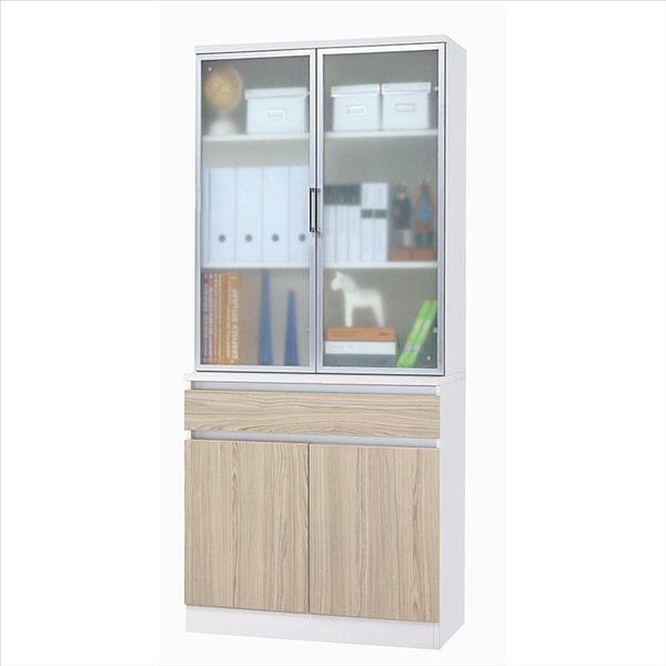 【石川傢居】Ishikawa系統板材 LU-622-6 鋁框上座+ LU-622-7 下座書櫃組 (共2件)