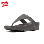 【FitFlop】LOTTIE GLITZY TOE-THONGS 經典水鑽夾腳涼鞋-女(錫色)