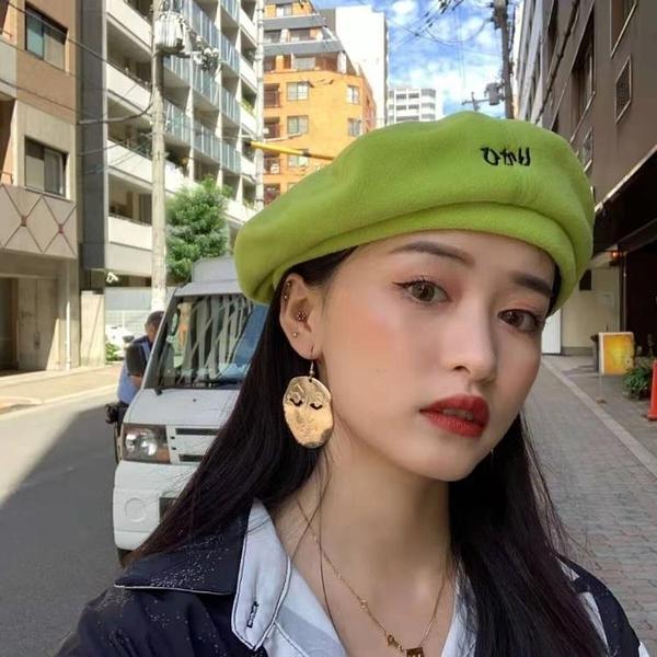 2021新品促銷 韓國港風女搖粒絨貝雷帽女秋冬薄款百搭ins網紅畫家帽蓓蕾帽子
