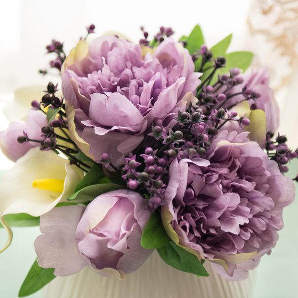 模擬花假花 套裝 花藝 客廳餐桌 裝飾花 花瓶花束 -bri02022