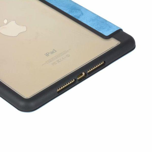 蘋果 ipad mini5 平板皮套 防摔 智慧休眠 mini4 迷你 4 5 保護殼 支架 復古 PC透明底殼 帶筆槽