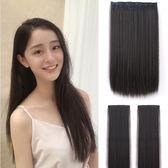 限定款假髮 韓系假髮女長髮一片式隱形無痕長直髮片接髮片自己接仿真髮韓系假髮片