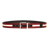 【台中米蘭站】全新品 BALLY 新款 Taylan 35 帆布牛皮雙面用皮帶(6235351-黑)