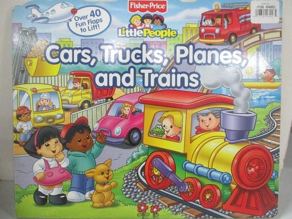 【書寶二手書T1/少年童書_EPE】Cars, Trucks, Planes and Trains_Rindone