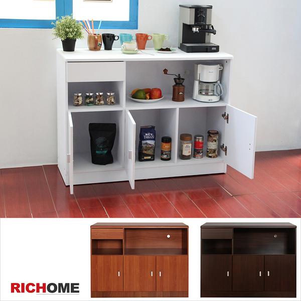 【RICHOME】❤DR133❤《HOME米娜防潑水三門一抽廚房櫃-三色》 餐櫃  櫥櫃  書櫃  空櫃