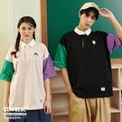 STAYREAL x 櫻桃小丸子 小丸子/花輪拼色寬版POLO衫