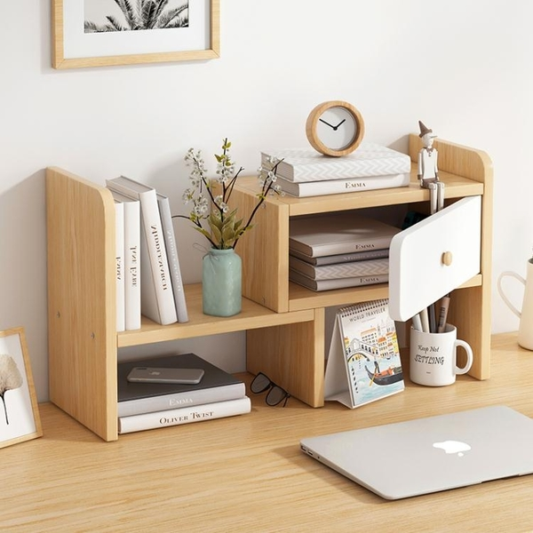 桌面置物架辦公室簡易書桌收納整理架簡約學生宿舍臥室多層小書架 嬡孕哺