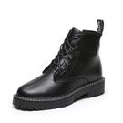 鞋子馬丁靴女透氣厚底靴子帥氣機車風英倫風短靴  潮流衣館