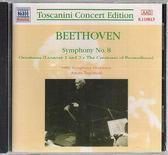 【正版全新CD清倉 4.5折】貝多芬:第八號交響曲 ; 第一、二號「蕾奧諾」序曲 / 托斯卡尼尼 (指揮)