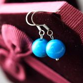 【喨喨飾品】白紋土耳其石耳環飾品 S51