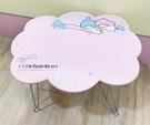 【震撼精品百貨】Little Twin Stars KiKi&LaLa_雙子星小天使~三麗鷗雙子星日本製造型摺疊桌-雲#86133