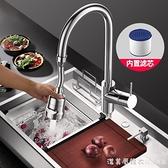 廚房水龍頭萬能接頭防濺頭嘴洗菜盆可旋轉增壓花灑萬向家用神器 美眉新品