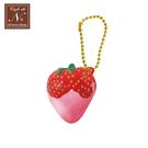草莓醬款【日本正版】草莓 捏捏吊飾 吊飾 捏捏樂 軟軟 cafe de n squishy 捏捏 - 618191