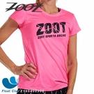 【ZOOT】女款 F20 NEON RACING 競速系列 路跑圓領衫 艷亮桃 Z190400306 原價1400元