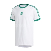 adidas 短袖T恤 Cali 2.0 Tee 運動休閒 白 綠 男款 訓練 網球 【ACS】 EC7376