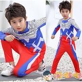 萬聖節服裝奧特曼衣服長袖套裝速干衣兩件套兒童男孩【淘嘟嘟】