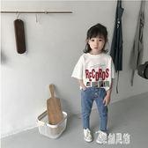 童裝短袖白t恤女童打底衫中小童上衣兒童洋氣2019夏裝新款xy1238【原創風館】