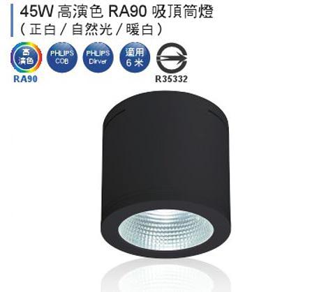 【燈王的店】舞光 LED 45W 黑鑽石 筒燈 黑框 全電壓 白光/自然光/暖白光 (適用六米) LED-CEB45-BK