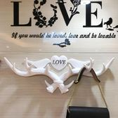 鹿角玄關置物架裝飾壁掛衣帽架創意掛衣架墻飾墻上鑰匙掛鉤免打孔·樂享生活館liv