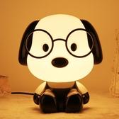 超大小狗動物卡通臺燈暖光護眼燈兒童臥室床頭燈嬰兒喂奶燈讀書燈