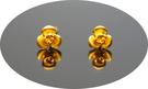 gold 黃金 耳環 金飾 保證卡 重量0.30錢 [ ge 055 ]