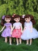 芭比公主會說話的智慧芭比丹路洋娃娃套裝仿真女孩兒童大號公主玩具單個布LX 小天使