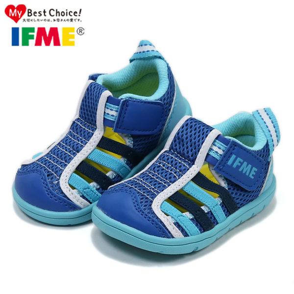 日本IFME寶寶款 夏日海軍藍透氣機能水涼鞋.包頭涼鞋.童鞋~EMMA商城