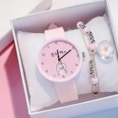 兒童手錶 手錶卡通電子錶小學生可愛少女兒童指針男玩具抖音數字網紅小清新 薇薇