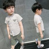童裝男童夏裝套裝1-3歲兒童男寶寶襯衫中小童純棉兩件套潮