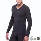 【南紡購物中心】【三槍牌】時尚經典型男圓領Q-HEAT超彈性長袖發熱衣~2件組4659