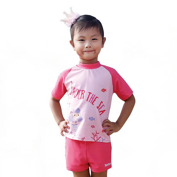 ≡MARIUM≡  兒童兩件式短袖水母衣《 粉色人魚 》MAR-7817