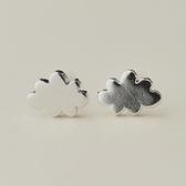 925純銀耳環 (耳針式)-簡約百搭雲朵生日情人節禮物女飾品73ag255【巴黎精品】