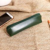 創意文具用品韓國復古簡約純色大學生容量筆袋男女鉛筆盒初高中版 茱莉亞嚴選時尚