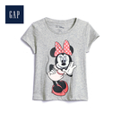 Gap女幼Gap x Disney迪士尼系列棉質舒適印花圓領T恤555662-灰色